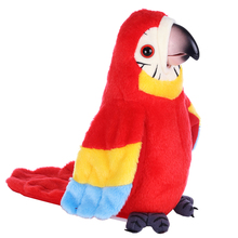 Plush-Toy Talking-Parrot-Toy Stuffed Electric What Bird Say You Repeat Birthday-Gifts