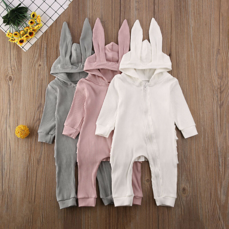 0-24M Newborn Toddler Baby Boy Girl Bunny Rompers Easter Long Ear Jumpsuit Infant Baby Costumes Rabbit Clothes
