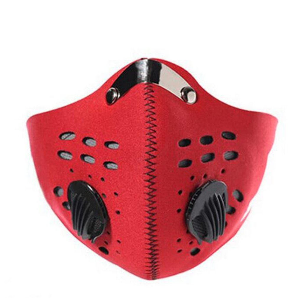 Anti-fog Pm2.5 Breathable Cycling Face Mask Sport Training Anti-Pollution Running Mask With Activated Carbon Filter