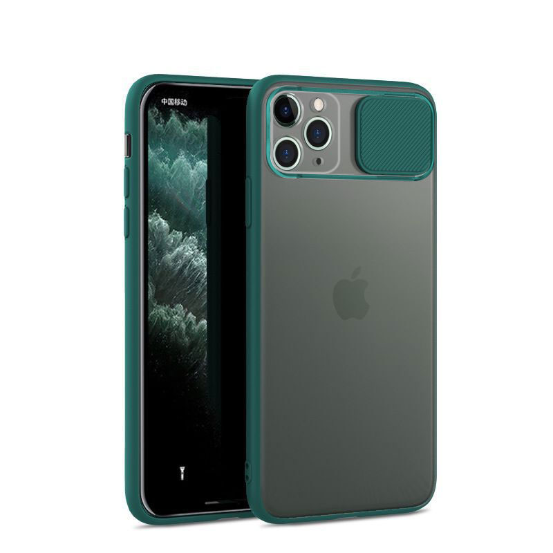Slide Camera Lens Protection Case On The For iPhone 11 Pro X SE 2020 XR 7 8 XS 11 Shockproof Silicone Cases Clear Matte Cover