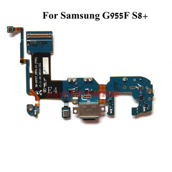цена на Original USB Charging Dock Port Flex cable For Samsung G955F S8+ SM-G955F Charger plug board connector replacement Parts