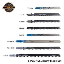 КУГИ 5шт ЖКУ полотна для лобзика T111C набор T118A T127D T144D T244D T318A T344D T344D 5 т хвостовика пилы для древесины/металла резки