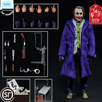 1:6 scale male figure doll Heath Ledger The Dark Knight JOKER anime Movable Doll head & Clothes Suit 12action figure Collectibl