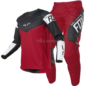 Free shipping 2021 Delicate Fox Red MX ATV Dirt 180 Revn Motocross MTB Mountain Bicycle Offroad Motorcycle Gear Set Men's Suit