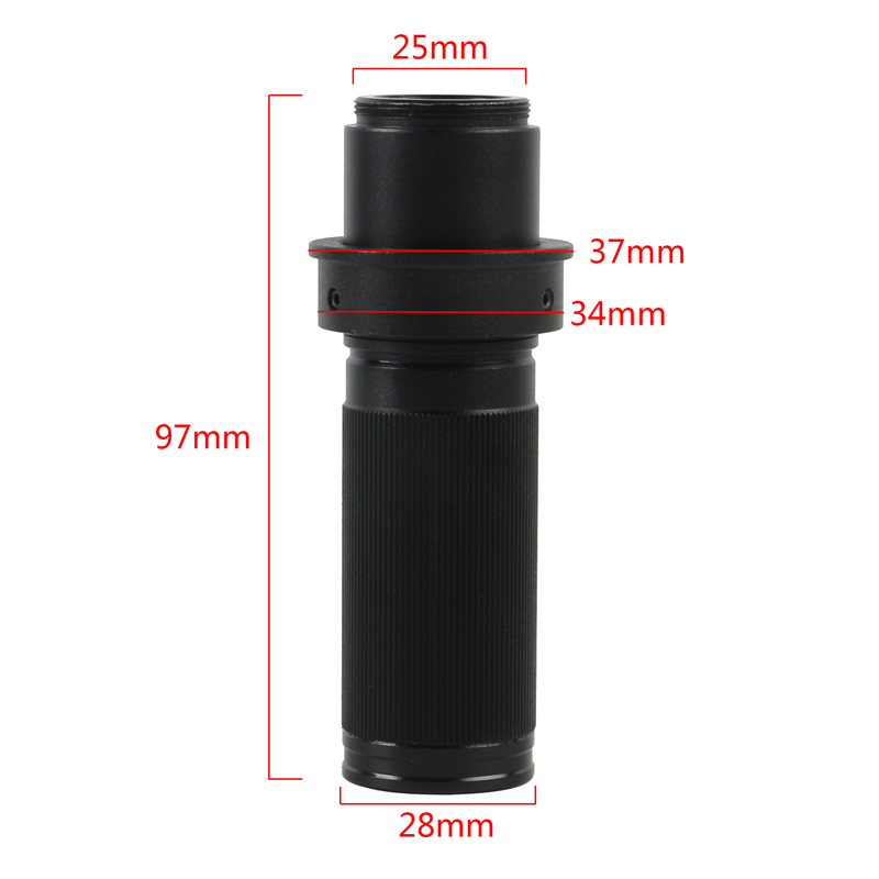 <font><b>Big</b></font> View High Working Distance Zoom 150X C mount <font><b>Lens</b></font> For CCD CMOS Industry Industrial HDMI USB VGA Video Microscope Camera image