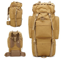 Camouflage Backpack 65L Capacity Oversize Military Tactical Rucksack Waterproof Wear resisting Nylon Outdoor Bag