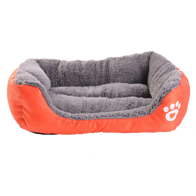 S-3XL 10 Colors Paw Pet Sofa Dog Beds Waterproof Bottom Soft Fleece Warm Cat Bed House Petshop cama perro 13