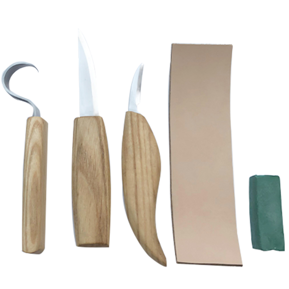 5PCS Wood Carving Tool Kit Chisel Woodworking Whittling Cutter Chip Hand Tools