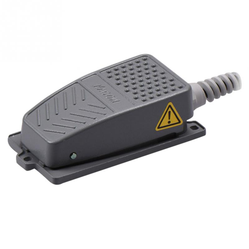 Antislip Industrial Foot Operated Pedal Switch Footswitch Tool AC 220V 10A Type