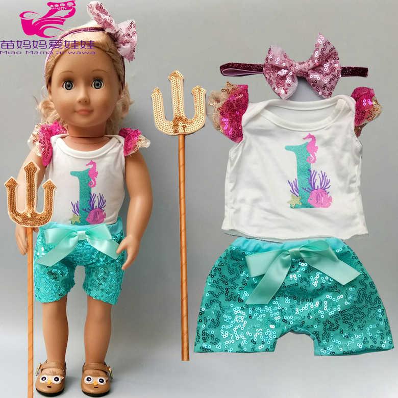 18 дюймовая кукла рубашка и штаны для маленьких кукол комплект одежды