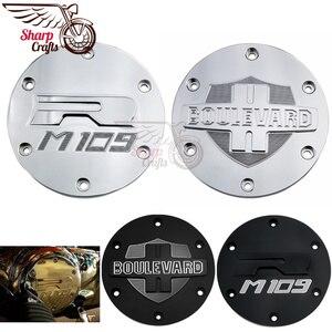 Image 1 - אופנוע חלקי כרום חריטה דרבי מכסה מנוע גלגל מכון משמר עבור סוזוקי דרות M109R VZR1800 אינטרודר M1800R 2006 2019