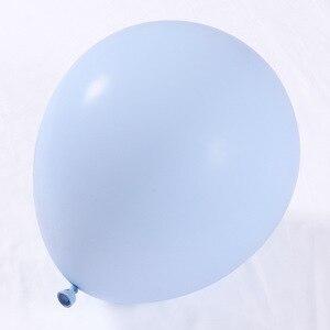 Image 3 - 100 יח\סט Macaron ורוד כחול בלוני קשת זר עלה זהב 4D בלון תינוק מקלחת מסיבת יום הולדת רקע תפאורה קונפטי כדורי
