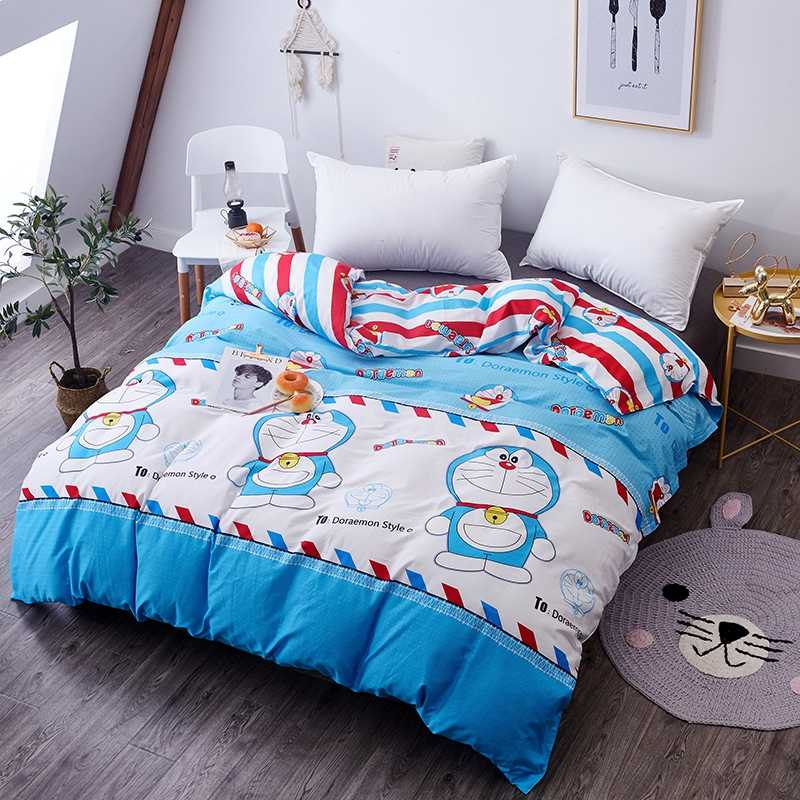 1pc Pure Cotton Doraemon Printed Duvet Cover with Zipper 180X220cm,200X230cm,220X240cm Size Quilt Cover Children Bedding Sets