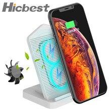 Soporte de cargador inalámbrico para iPhone, ventilador de refrigeración de 10W, cargador de inducción de carga inalámbrica para iPhone X, XR, XS, 8 Plus, Samsung S8, S9, S7