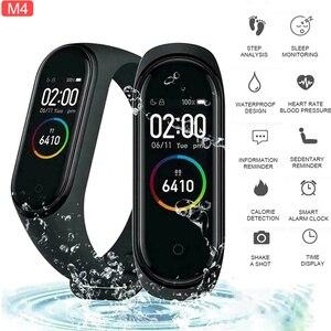 M4 Smart Wristband Band 4 Bracelet Bluetooth Watch Heart Rate Fitness Sleep Monitor Waterproof Smart Bracelet Watch Men Women
