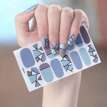 1pc ymx010 etiqueta coreia estilos crianças à prova dwaterproof água prego envolve adesivos geométrico estrelas pontos abstrato pop arte projetos manicure