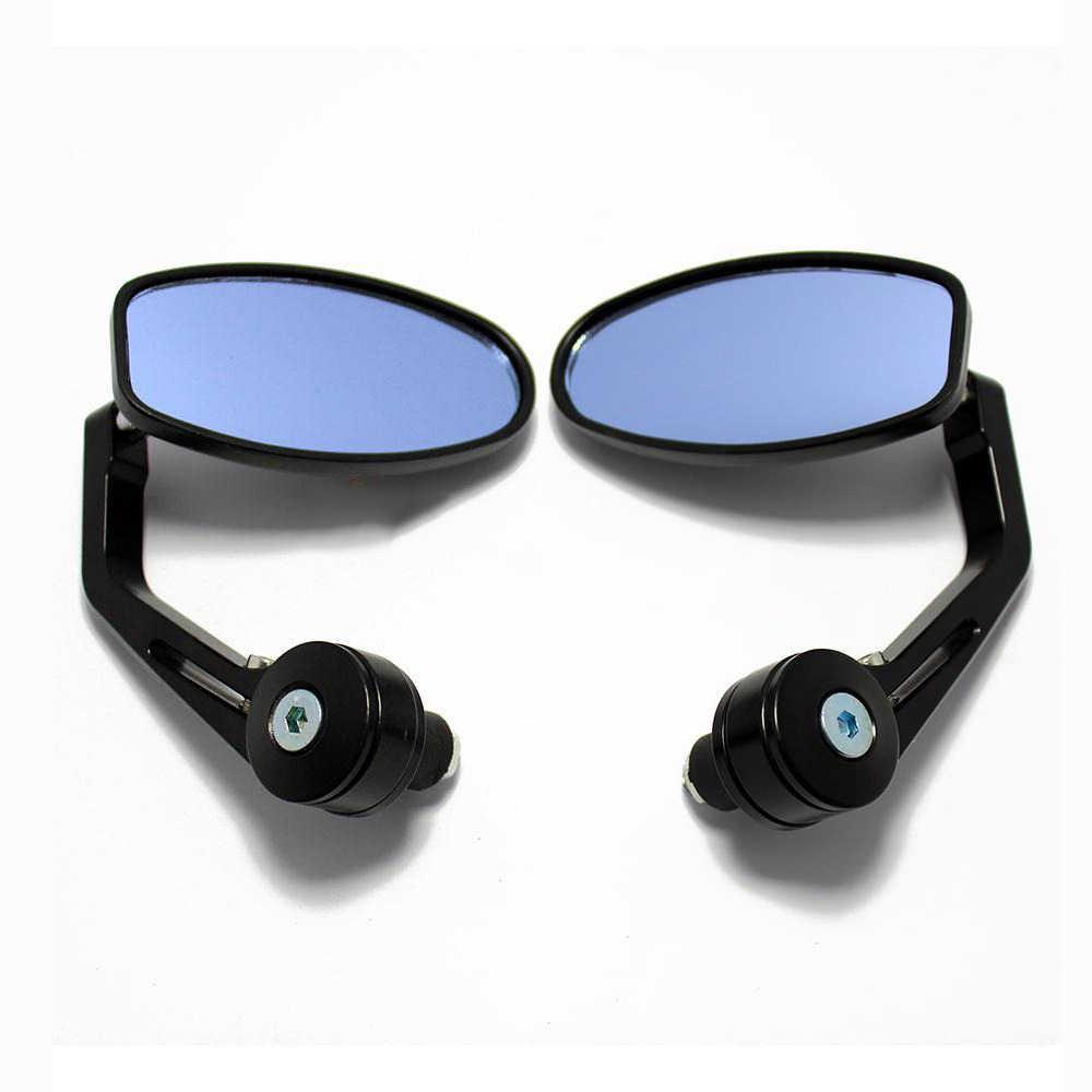 """Motor 7/8 """"Stang Akhir Kaca Sisi Cermin Moto Kaca Spion Samping Cermin untuk Chopper Bobber Cafe RACER ATV panas"""