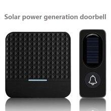 Solar Wireless Doorbell Low Power Home IP65 Waterproof 300M Door Bell Chime Outdoor Doorbells solar power charging With Light