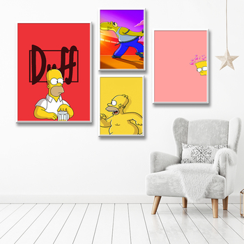 New  2021 Simpson Canvas Painting Picture Wall Art Poster 1