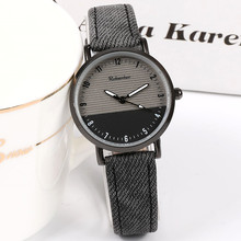 New Style Black Cool Women's Watch For Women Top Brand Simple Retro Men's Leat