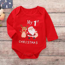 Infant Baby Romper Girls Boys Christmas Costume Clothes for Kids Long Sleeve Letter Print Christmas Jumpsuit Romper Outfits(China)