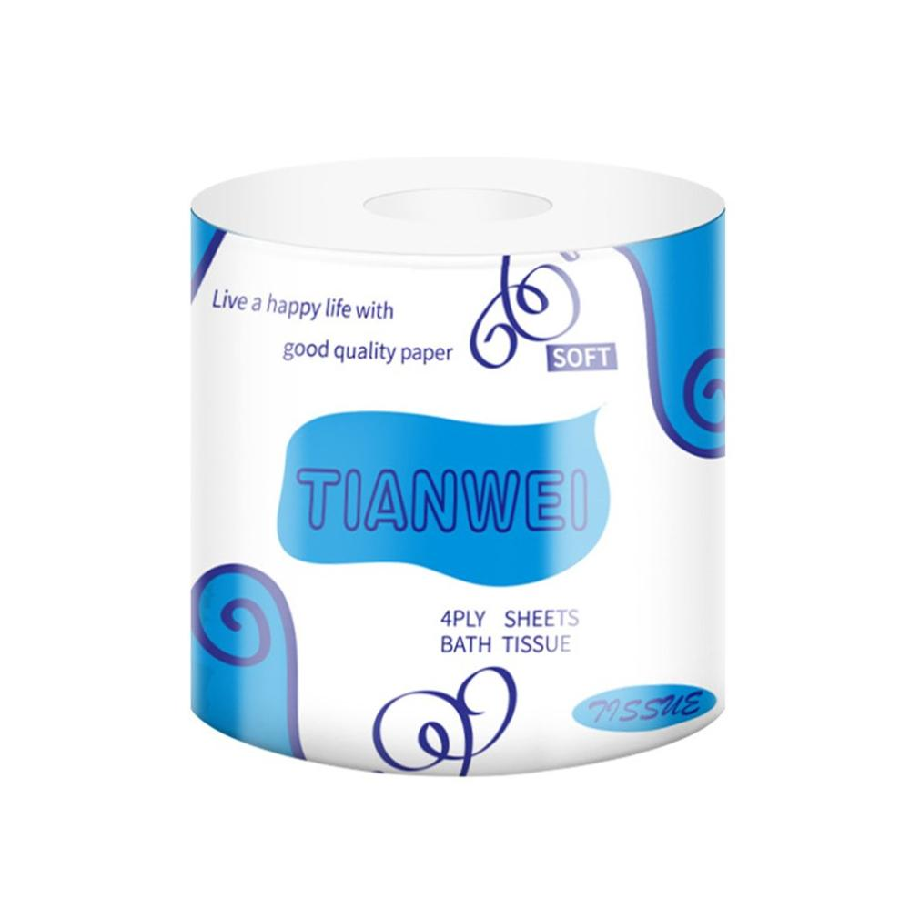 1 Roll  Toilet Paper Bamboo Pulp Roll Paper Facial Tissue Roll Paper Household Logs Hollow Core Napkin Paper