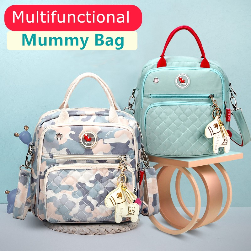 Mom Diaper Bag Waterproof Nylon Baby Nappy Bag Women Travel Backpakc For Baby Nursing Maternity Bag Bolsa Maternidade 9 Colors