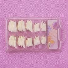 100pcs cor natural francês falso unhas dicas artificiais unhas falsas arte acrílico manicure ferramentas