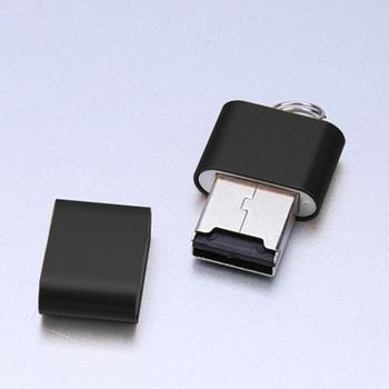 Ultra-cienki Mini stop Aluminium 480 mb s USB 2 0 T Flash TF pamięć Micro SD Adapter czytnika kart tanie i dobre opinie VKTECH NONE Zewnętrzny CN (pochodzenie) Pojedyncze Karty SD TF Card Reader Aluminium alloy shell Approx 26*19*6 mm