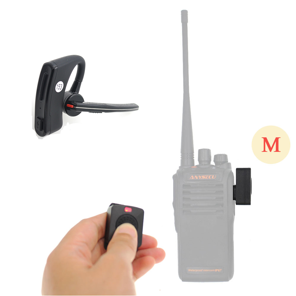 Wireless Walkie Talkie Bluetooth PTT Headset Earpiece For  HYT TC610 TC500 Motor GP300 GP308 GP68 GP88 Radio