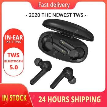 2020 New XY-7 Tws Wireless Bluetooth Stereo Earphones Bass Headphone Earbuds With Mic Charging Box Sport Headset Vs i12 i900000
