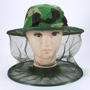 Anti-Mosquito Bee Insect maska wędkarska Outdoor Sport turystyka czapka z daszkiem osłona szyja twarz wędkarstwo czapka anty-uv tanie i dobre opinie Stałe Parasolka Poliester