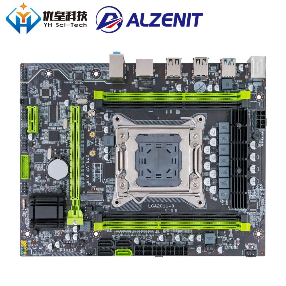 ALZENIT X79M-CE5 Intel X79 New Motherboard LGA 2011 Xeon E5 RECC/Non-RECC DDR3 128GB M.2 NVME USB3.0 M-ATX Server Mainboard