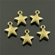 30pcs Charm Tiny Star Vintage Tiny Star Charms Pendant For Jewelry Making Antique Bronze Color Tiny Star Charms 7x8mm cheap WYSIWYG Zinc Alloy Sun Moon Stars Fashion Metal