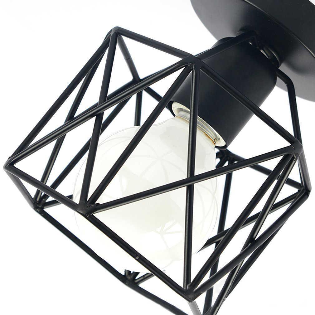 Rétro Style industriel plafonnier support moderne lampe salon chambre cuisine créative noir fer artisanat lumière sans ampoule