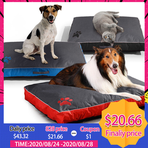 Image 1 - All Seasons Dog Bed for Large Dog Oxford Cloth Waterproof Breathable Soft  Pet Dog Bed Cushion Sofa Blanket Mat for Dog Products