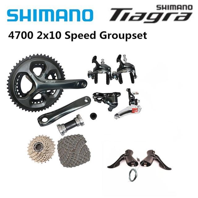 Shimano Tiagra 4700 כביש 165/170/172.5/175mm 50 34T 52 36T אופני אופניים Fullset 2x10 מהירות Groupset שיפטר בלם קלטת שרשרת