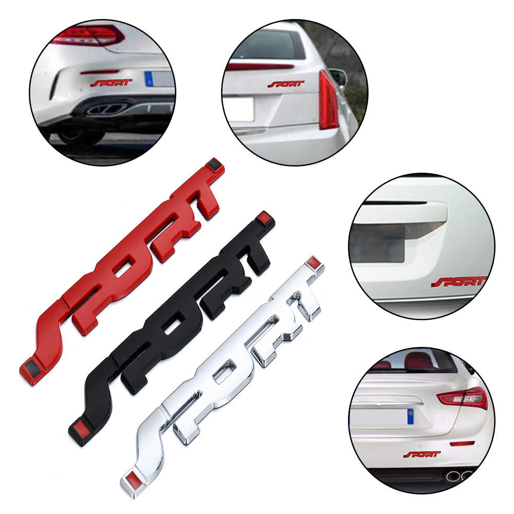 3D Sport Graphic Logo Dell'automobile di Personalità Del Metallo Sticker Badge Emblem Sticker Auto Parafango Tronco Decal per Mitsubishi Auto Universale