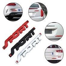 3D SPORT graficzne Logo osobowość samochód metalowa naklejka odznaka naklejka z Logo bagażnik samochodowy Fender naklejka na mitsubishi samochodowy uniwersalny