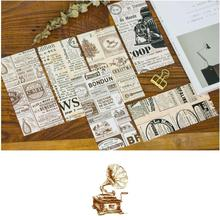 5pcs/lot Cute Vintage English Newspaper Decorative Paper Envelope Office Stationery Supplier