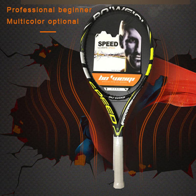 Adult Tennis Racket Carbon Fiber Full Carbon Beginner Professional Men And Women Single Tennis Racket