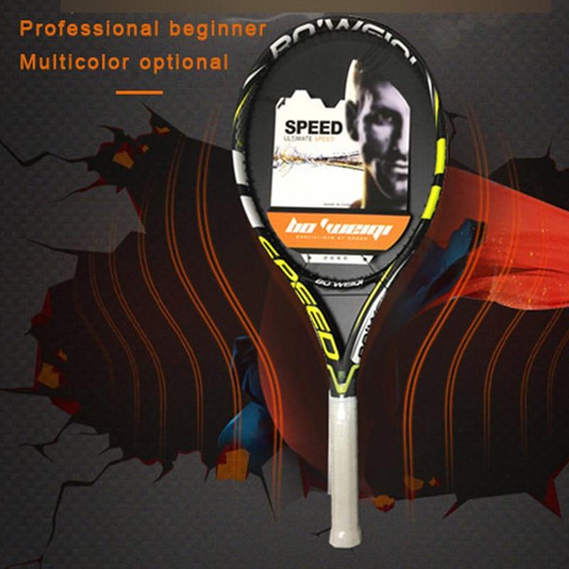 Adult Tennis Racket Carbon Fiber Full Carbon Beginner Professional Men And Women Single Tennis Racket