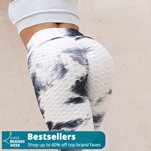 Women's Ink Bubble Hip Tie-dye Leggings Pants Lifting Exercise Bottom Pants Exercise Leggings Quick-drying Women Clothing