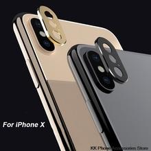 For iPhone X XS Max XR 7 8 Camera Lens Protector Aluminum Ri