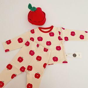 Image 3 - Bebê infantil conjunto de pijamas do bebê casa serviço pacote impressão roupa interior do bebê com chapéu recém nascido roupas da menina do bebê