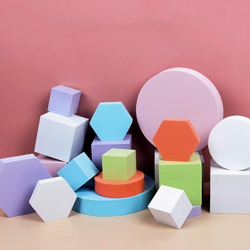 Настольный Материал для фотосъемки, геометрический куб, Жесткая пена, набор моделей, реквизит для фотосъемки жизни, фотография для ювелирны...