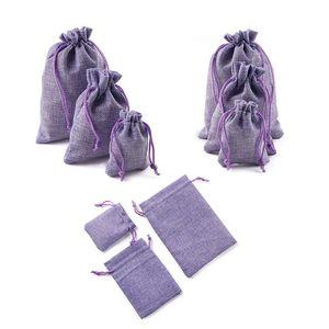 Image 3 - 10 шт рождественские льняные джутовые подарочные сумки с кулиской, мешки для свадьбы, дня рождения, вечеринки, подарочные сумки с кулиской, Детские принадлежности для душа