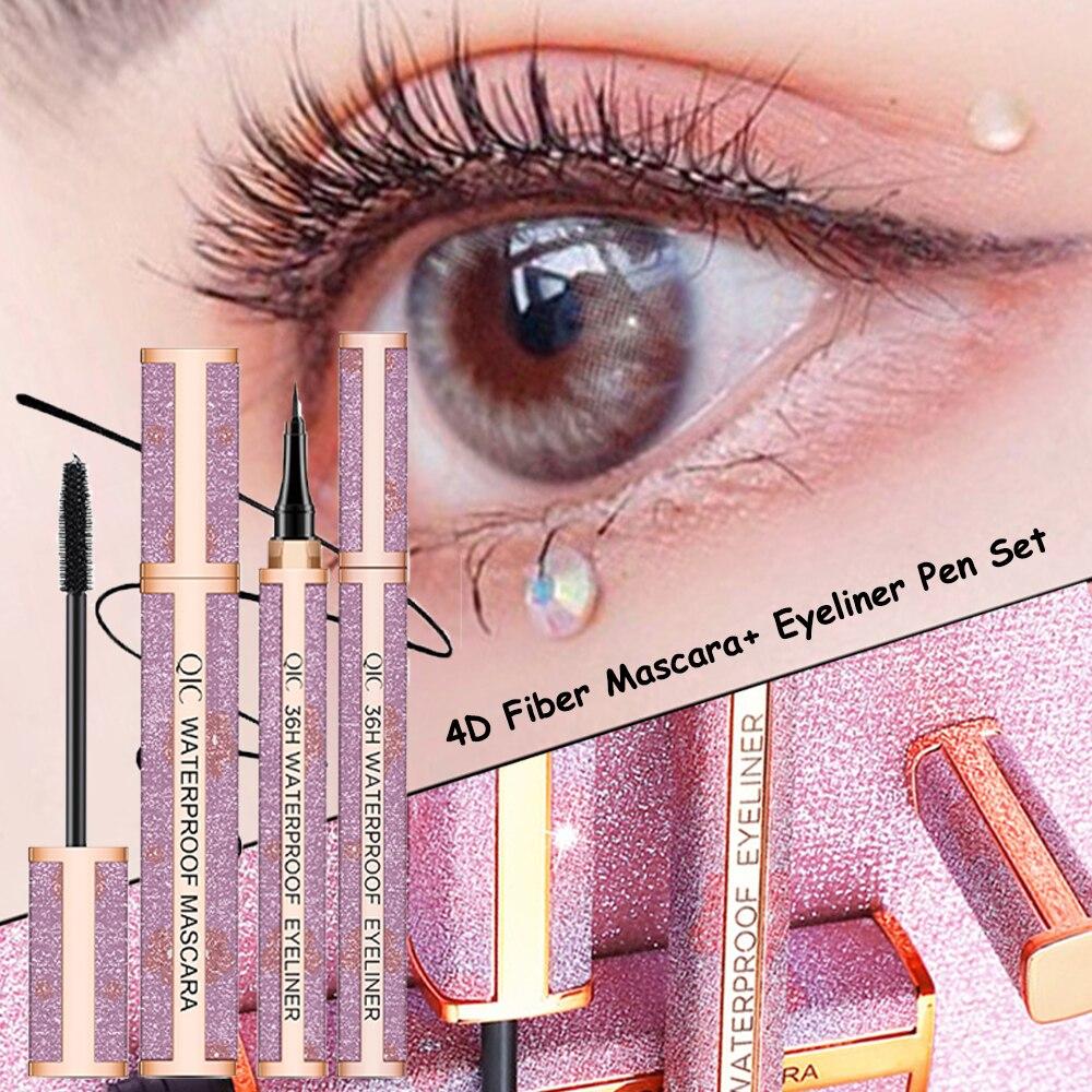1 pc 4d fibra de seda à prova dwaterproof água grosso alongamento rímel criativo colorido plástico redondo tubo lash extensão olho maquiagem ferramentas