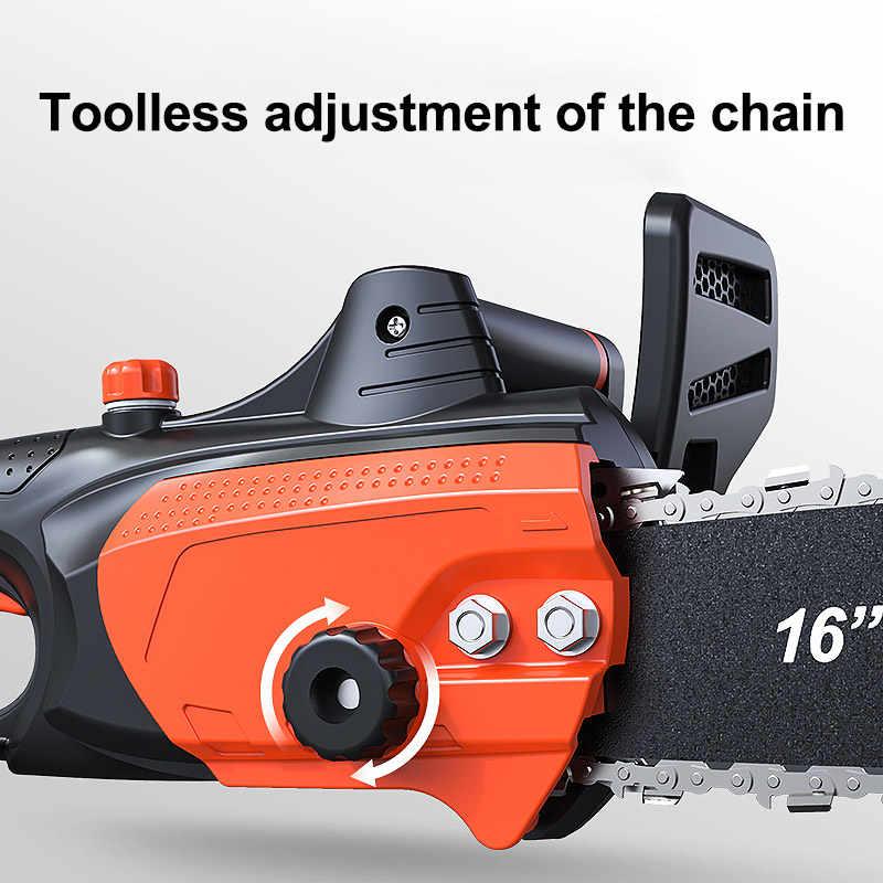 LOMVUMลูกโซ่เลื่อยโซ่ไฟฟ้าเครื่องมือตัดไม้มัลติฟังก์ชั่มือถือHigh Powerเลื่อยไฟฟ้า