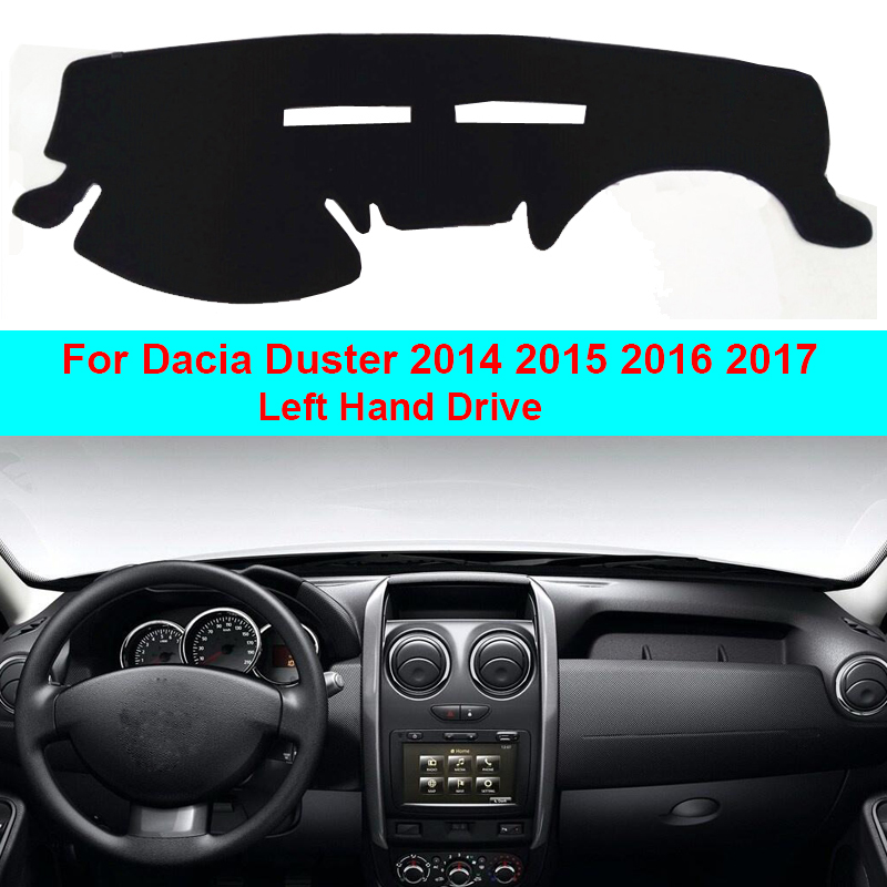 2 Layers Car Dashboard Cover Carpet Cape For Dacia Duster 2014 2015 2016 2017 LHD Sun Shade Pad Carpet Dashmat Sun Shade Pad